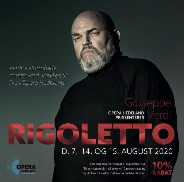 Fredrik Zetterström på årets plakat til Rigoletto i Opera Hedeland